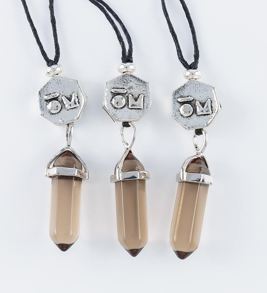 smokey quartz crystal pendants