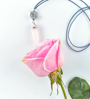 Rose Quartz Crystal Pendant