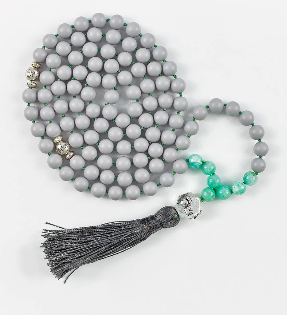 COOL GRAY Mala in COMPASSION