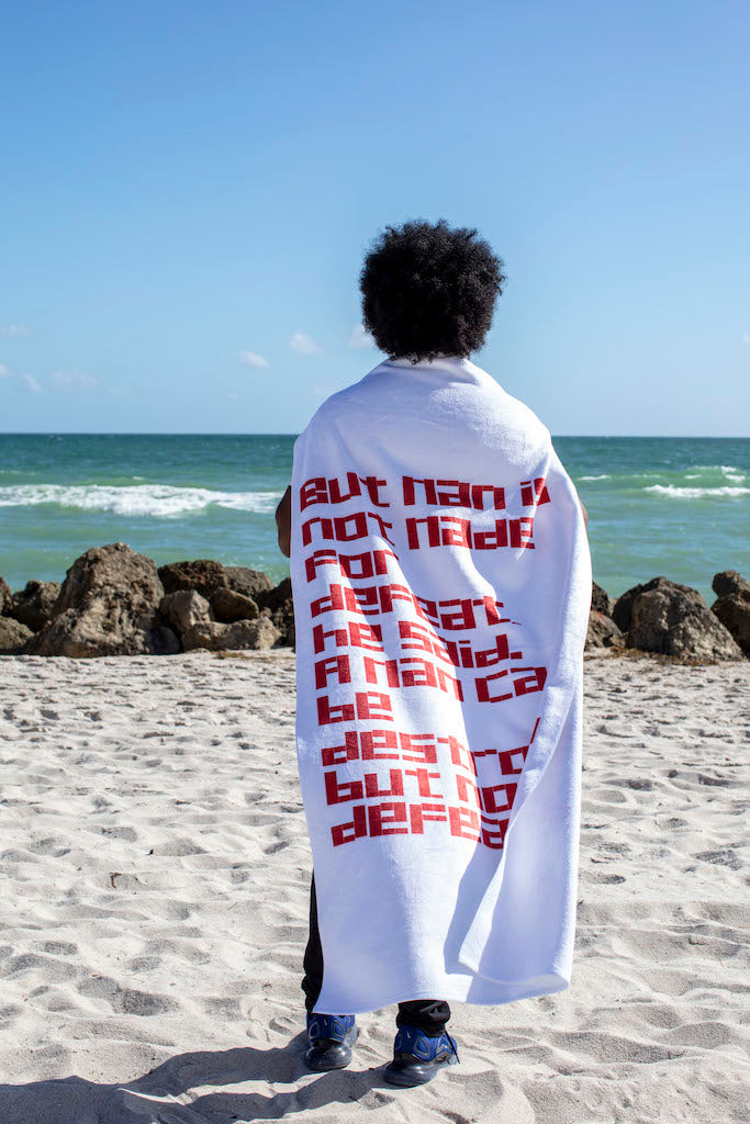 Limited Edition Towel from Dreaming with Lions by Alexandre Arrechea
