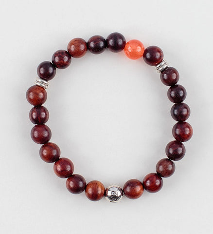 Reflection Wrist Mala in PASSION