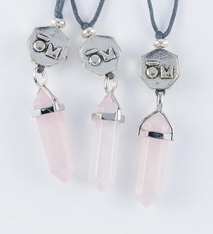 rose quartz crystal pendants