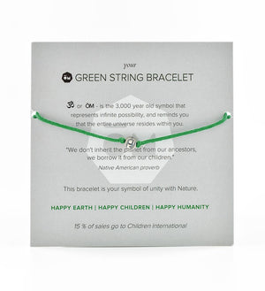 Green String Bracelet Instructions