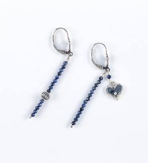 dark blue sapphire earrings