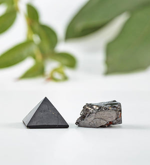 shungite pyramid, elite shungite stone kit
