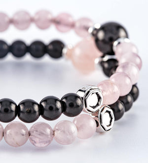 shungite rose quartz bracelets
