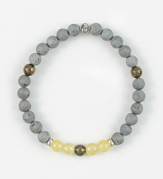 SILVER BALANCE Wrist Mala in PURPOSE