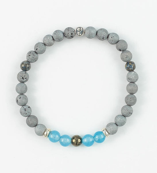 SILVER BALANCE Wrist Mala in INSIGHT