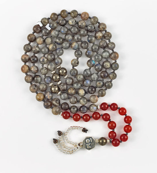 Silver Intuition Mala in VITALITY