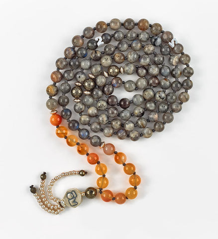 Silver Intuition Mala in PASSION