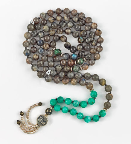Silver Intuition Mala in COMPASSION