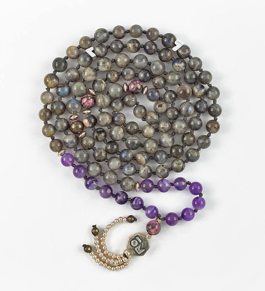 Silver Intuition Mala in CONNECTION