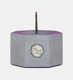 incense burner, cement, violet