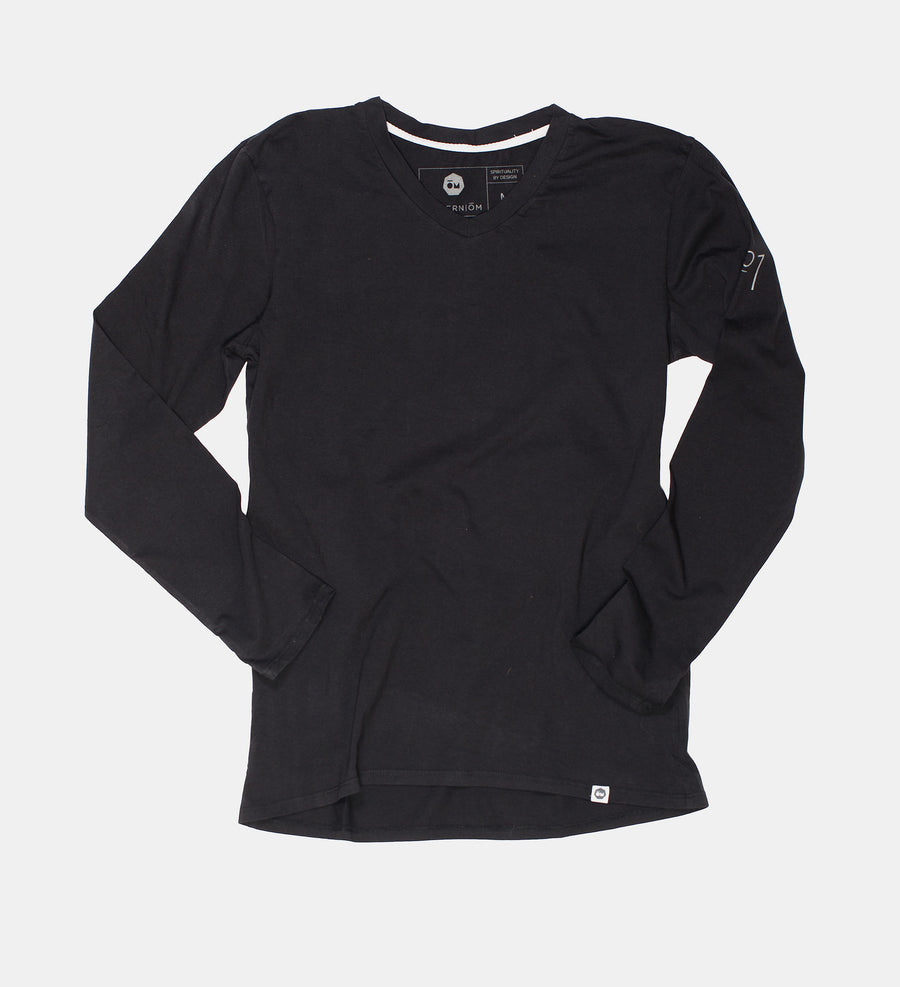 Black VITALITY Long Sleeve V-Neck