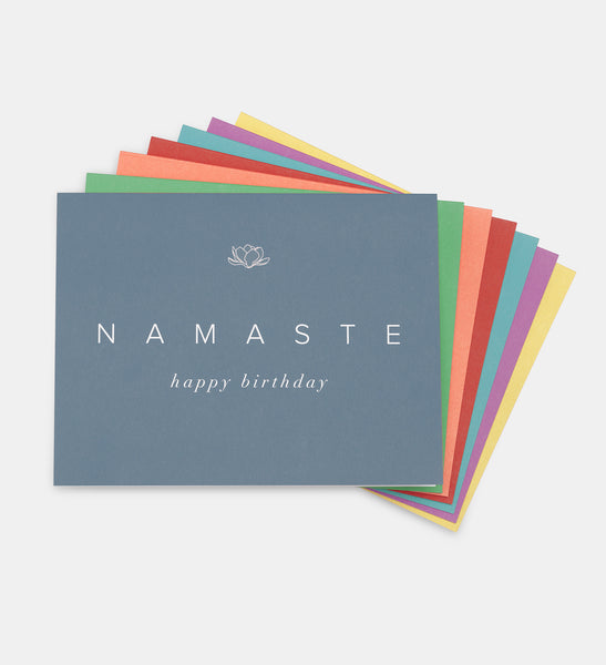 NAMASTE Happy Birthday Cards (Set of 7)