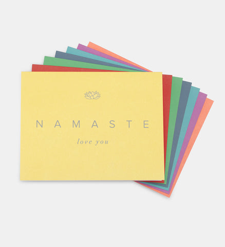 NAMASTE Love You Cards (Set of 7)