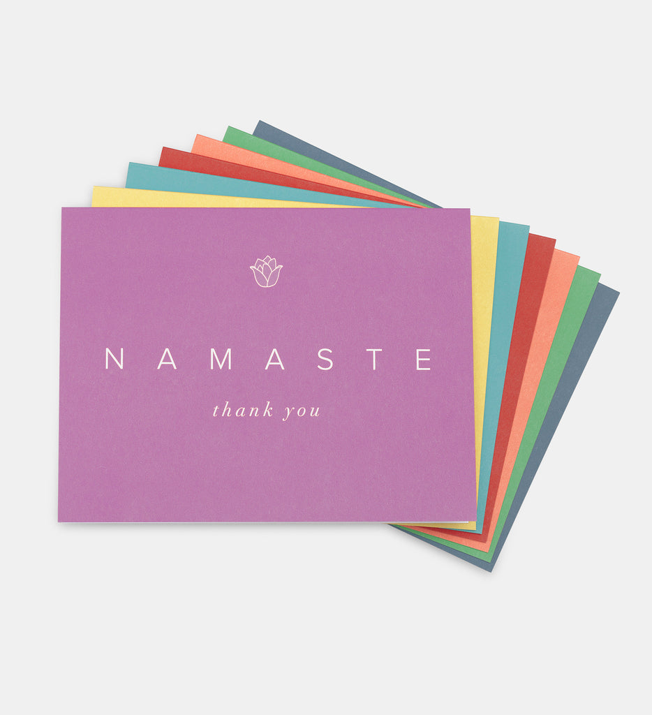 namaste thank you cards set of 7 modern Ōm