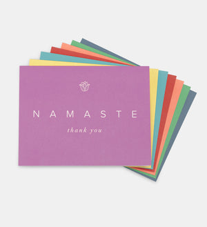 thank you cards, set, 7 colours