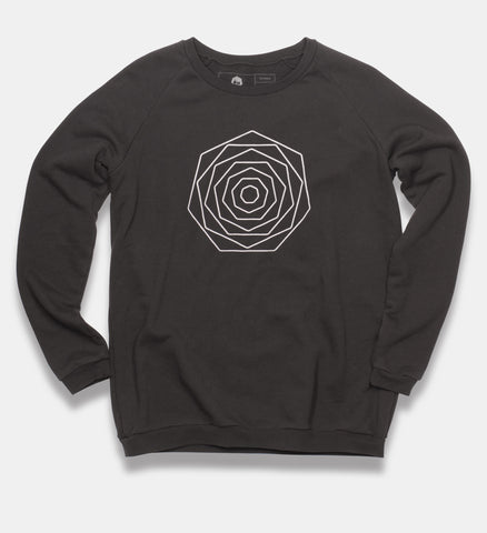 Black Flower Sweatshirt