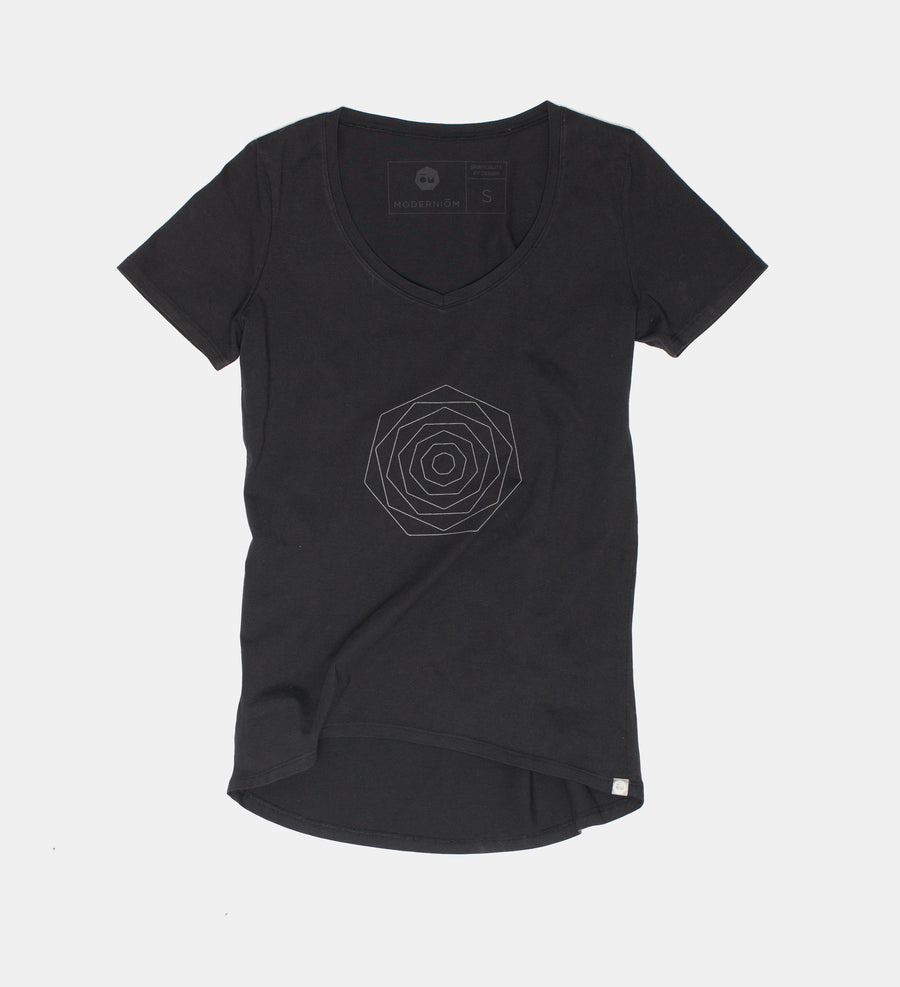 Black Small Flower Tee