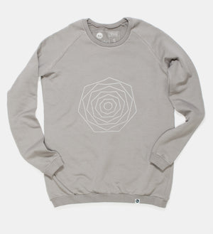 Gray Flower Sweatshirt
