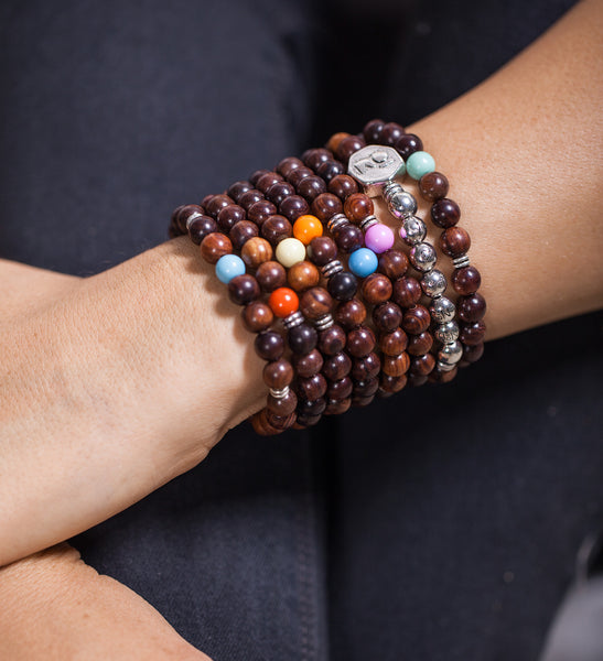Philosophy Wrist Mala Set/ Red Sandalwood