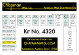 Chapman Kit No. 4320 17 bit Set with Phillips, SAE Allen Hex Bits and Slotted/Flathead bits - Parts List | Chapman MFG