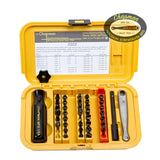 5503 Industrial Screwdriver Set-Chapman tools 36 bit Industrial set with Phillips, Reed & Prince, Slotted SAE and Metric MM Hex Bits. Great for working on American and foreign industrial equipment. | Chapman MFG
