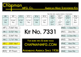 Chapman Kit No. 7331 - Bit Parts list- 24 bit set with Phillips, Slotted, SAE and Metric MM Hex Bits.