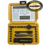 7820 Hex and Pin-In Security Set - 24 bit set with Phillips, Security Pin-In SAE Hex, Slotted, Socket Adapter & Security Torx/Anti-Theft Bit Set + Safety Yellow Case | Chapman MFG