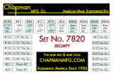 7820 Hex and Pin-In Security - Bit Parts List | Chapman MFG