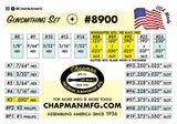 Kit No. 8900 Slotted Bits - Bit Part List | Chapman MFG