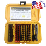 The Chapman Tools #5575  Master Screwdriver Set comes with Slotted, Phillips, Metric and SAE Hex Bits, and Star bits which fit Torx screws. This set offers 51 insert bits, over 300 tool combinations  |  Chapman MFG