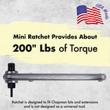 "Mini Ratchet Provides About 200"" lbs of Torque  Chapman MFG"