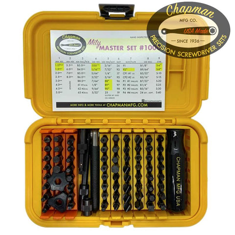 NEW! #1000 Mity Master Set - Yellow Case | Chapman MFG