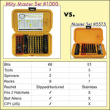 Mity Master #1000 Set contents compared with the Master Set #5575 contents. | Chapman MFG