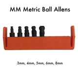 MM Metric Ball Allen Screwdriver Bits - 3mm, 4mm, 5mm, 8mm  | Chapman MFG