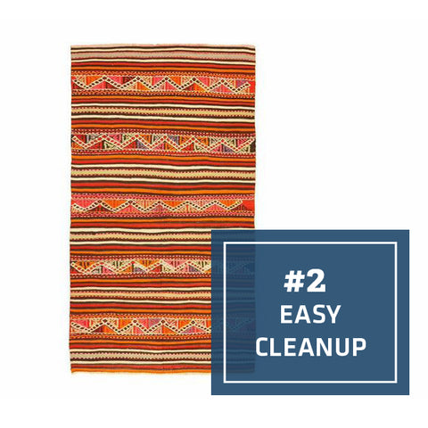 2/5 Ways Kilims Are the Perfect Kitchen Rug: Easy Cleanup