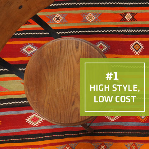1/5 Ways Kilims Are the Perfect Kitchen Rug: High style, low cost