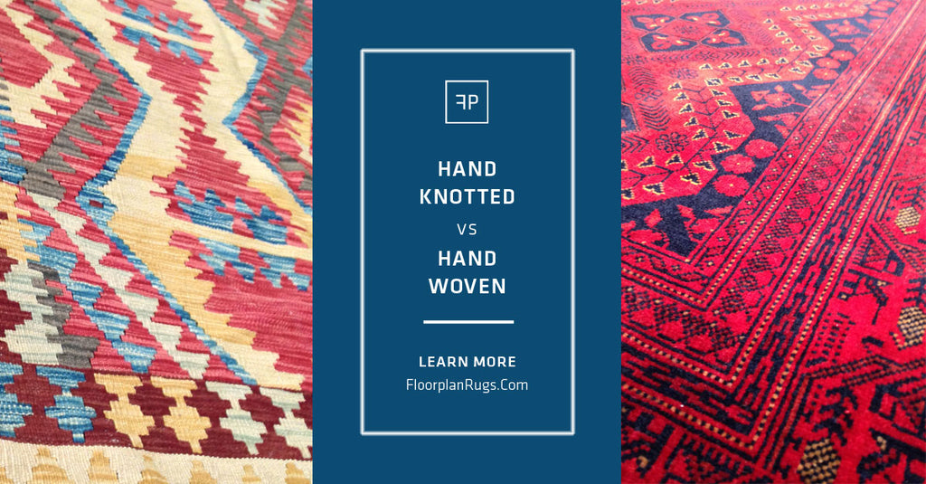 The difference between a hand-knotted and hand-woven rug