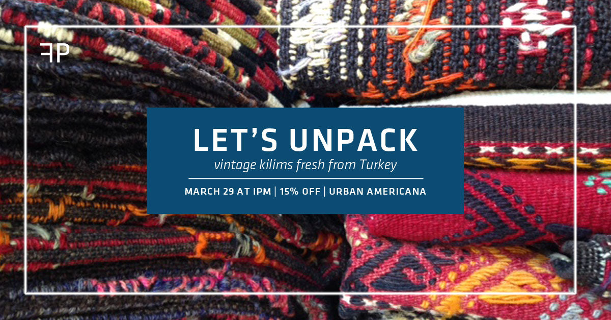 15% Off Vintage Turkish Kilim Unveil Sale