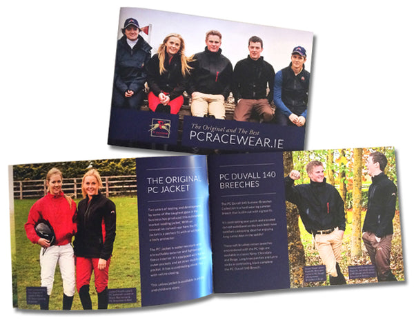 PC Racewear Brochure - Paul Carberry Designer Equestrian Clothing