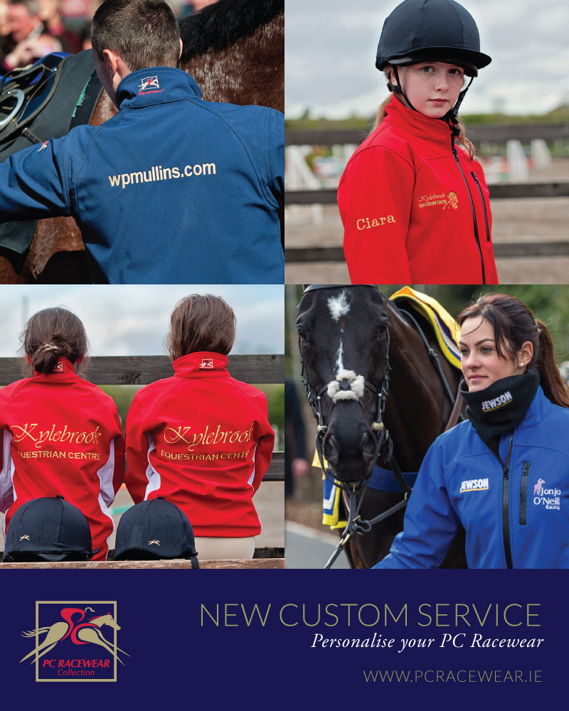 Paul Carberry PC Racewear Equestrian Clothing - New Customisation Service
