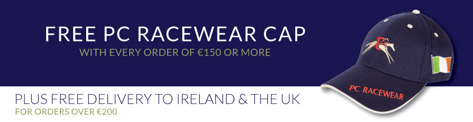 Paul Carberry PC Racewear - Free PC Cap and Free Delivery Special Offers - see website for details