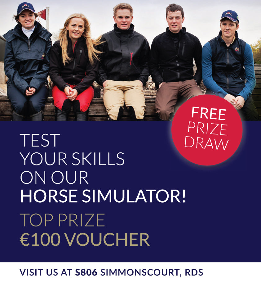 Paul Carberry Free Prize Draw at the RDS Dublin Horse Show 2015 - Stand S806 Simmonscourt