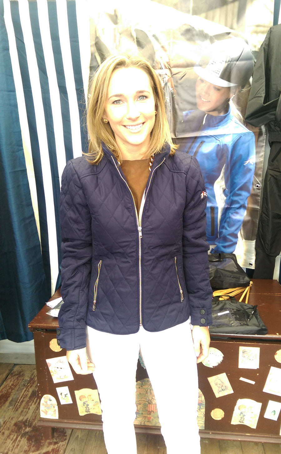 One of our happy customers wearing the PC Racewear jacket from new collection, at the RDS Dublin Horse Show 2015