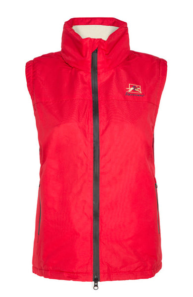 Paul Carberry Racewear PC Sleeveless Fleece Warmer in Red - Outdoor Clothing