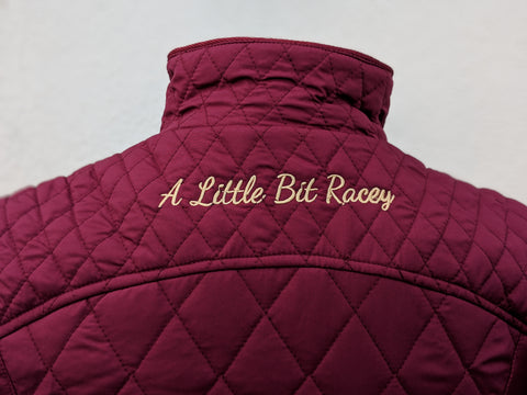 A Little Bit Racey Jacket in Burgundy - PC Racewear