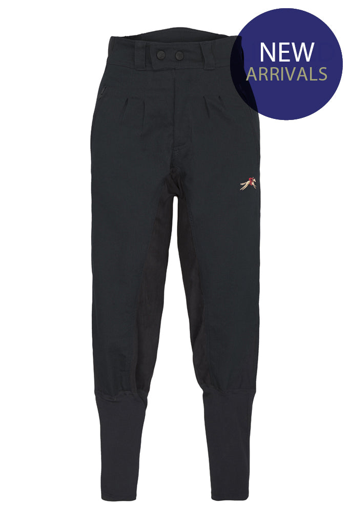 A Little Bit Racey Breeches - Childrens - Black