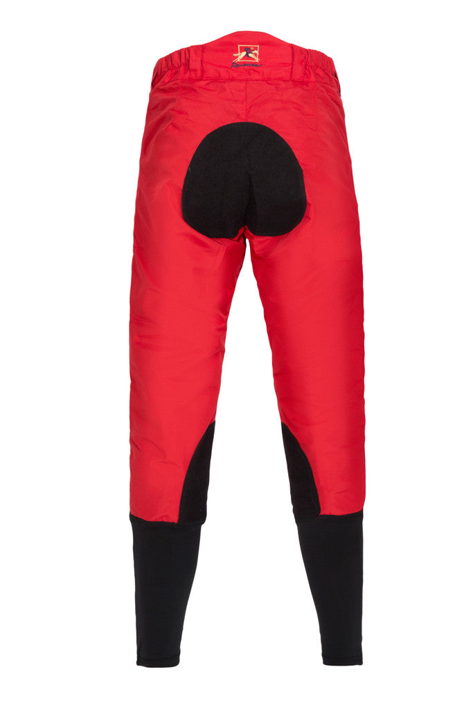 Paul Carberry - PC Racewear - PC Breeches Red (back view)